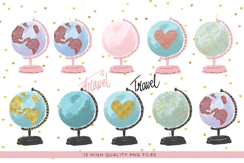 Clipart watercolor clipart free stock Watercolor Globe Clipart, Globe Clipart, Travel Clipart, Watercolor Planet,  Rose Gold ClipArt, Earth Globe, Watercolor Earth, world clipart clipart free stock