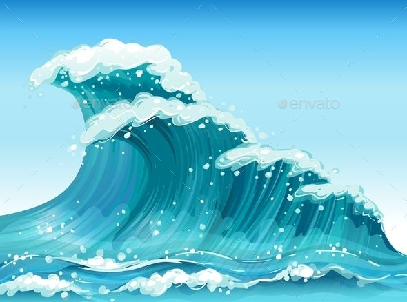 Clipart waves graphic library stock Big Waves | Travel Vectors Graphics in 2019 | Waves, Wave ... graphic library stock
