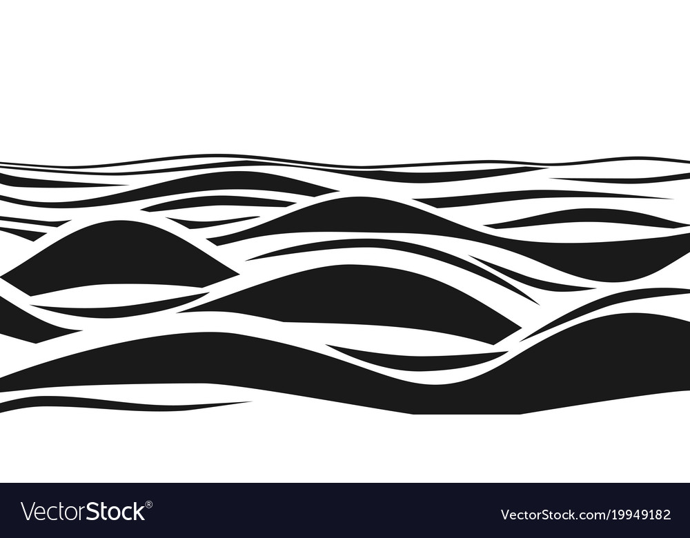 Clipart waves black and white jpg stock Abstract black and white striped 3d waves jpg stock