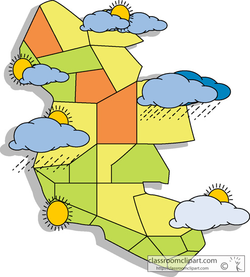 Clipart weather map svg library stock Season clipart weather map pencil and in color season - ClipartPost svg library stock
