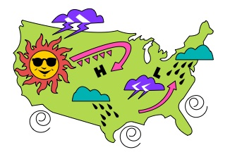Clipart weather map clip art black and white Weather Images For Kids | Free download best Weather Images For Kids ... clip art black and white
