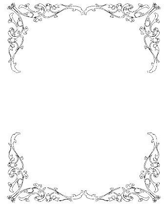Vintage border clipart free image black and white library Wedding Invitation Clip Art Borders Free Clipart | pin it | Wedding ... image black and white library