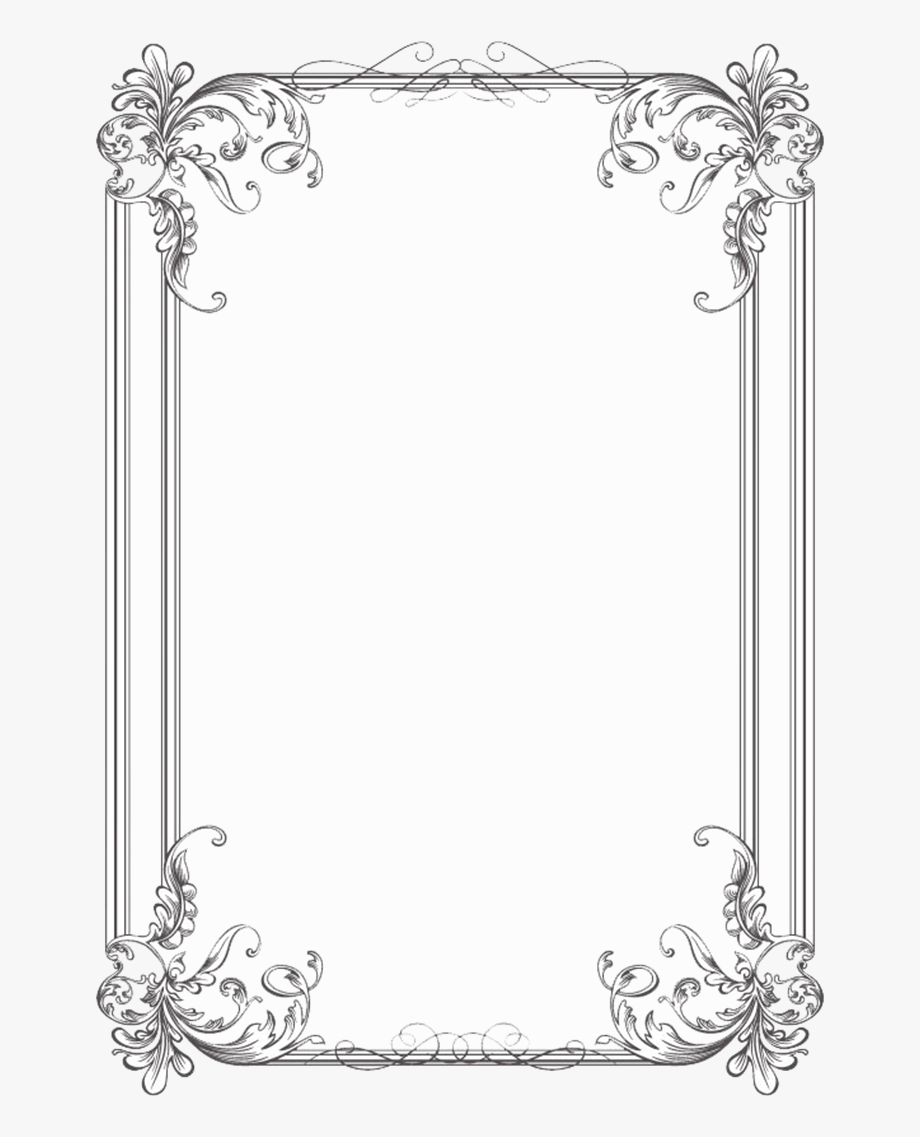 Clipart wedding borders and frames graphic free library Free Black Clip Art Borders And Frames Weddings - Border Png Hd ... graphic free library