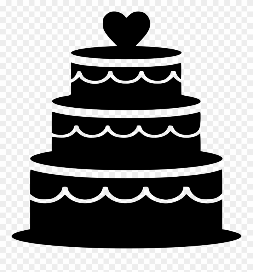 Three tier cake clipart black and white graphic download Pastry Clipart Biscuit - Wedding Cake Icon Png Transparent Png ... graphic download