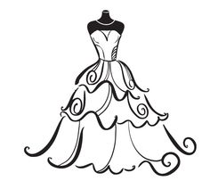 Clipart wedding dress clipart png free stock Wedding Dress Clip Art & Wedding Dress Clip Art Clip Art Images ... png free stock