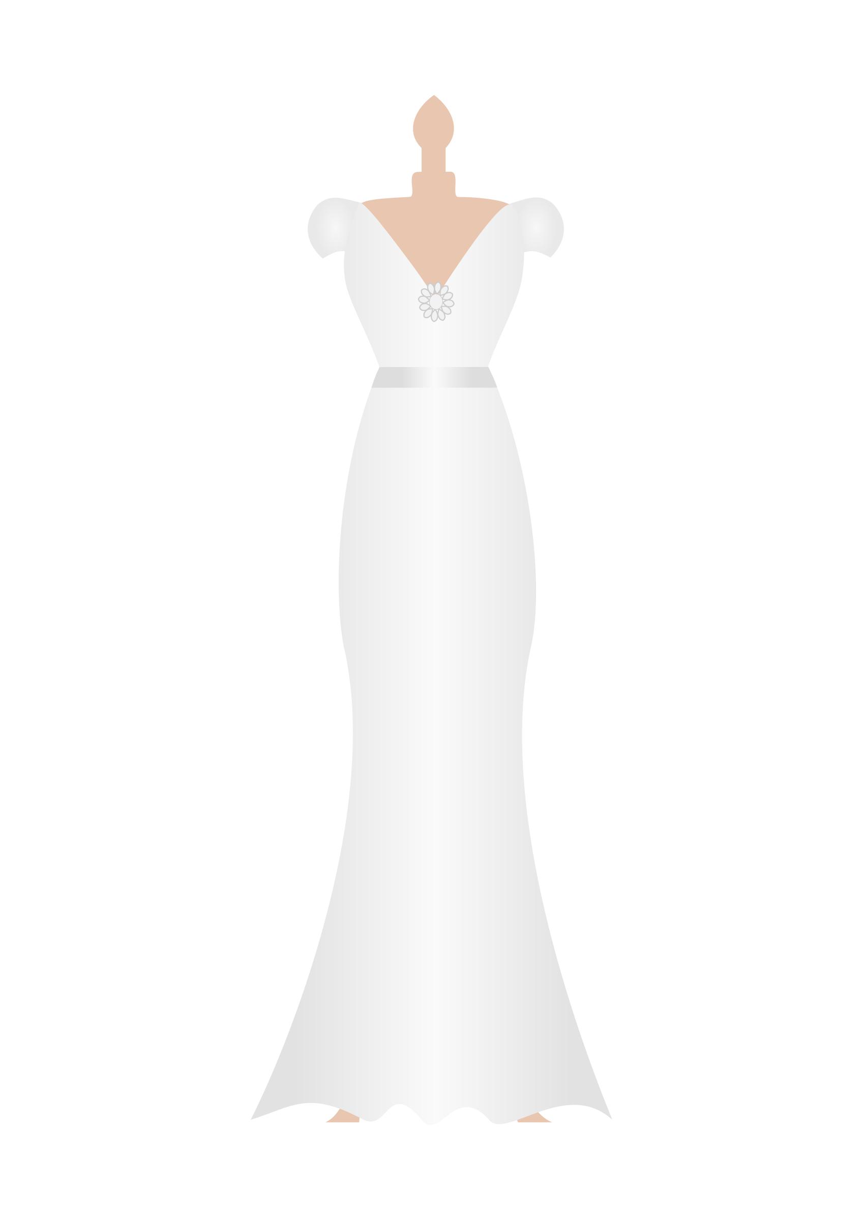 Clipart wedding dress clipart clip transparent wedding dress digital vector clip art wedding gown clipart design ... clip transparent