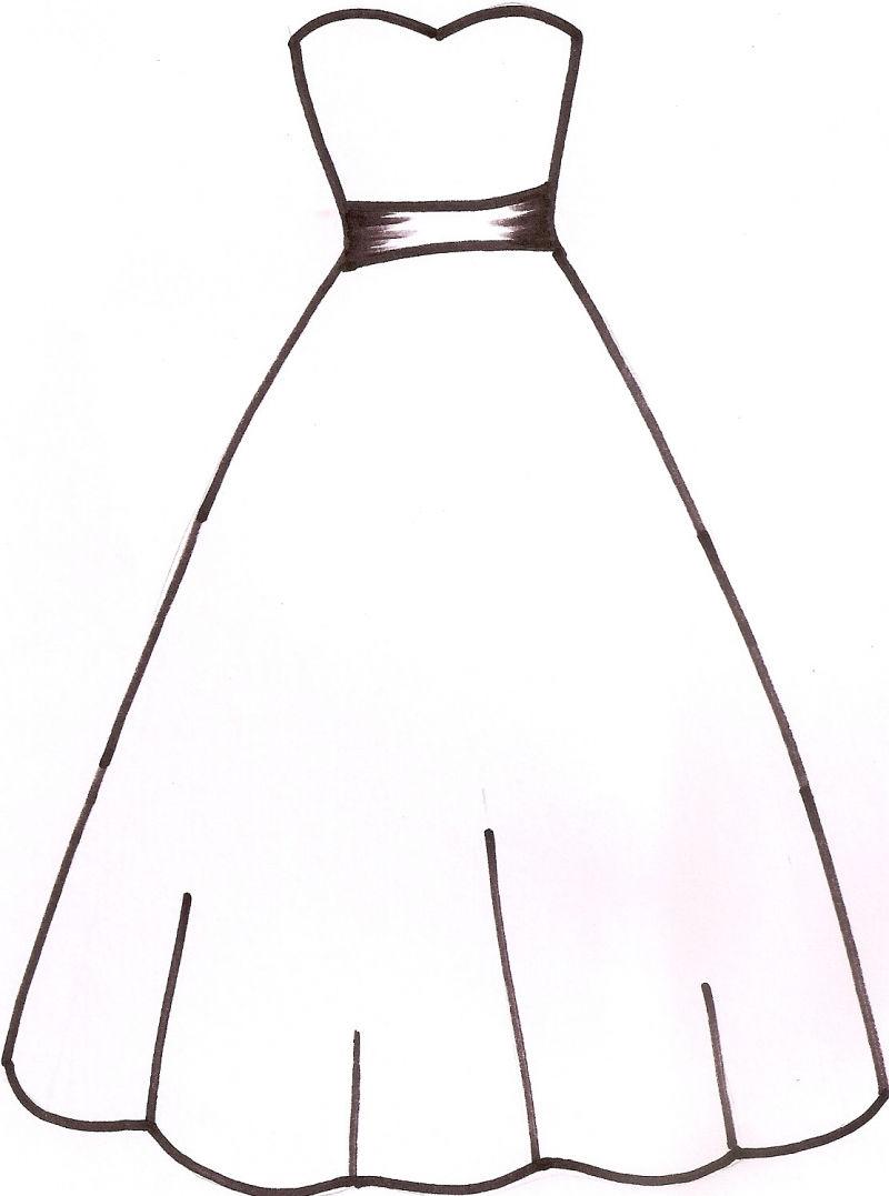 Clipart wedding dress clipart jpg royalty free library Wedding dress silhouette clip art - ClipartFest jpg royalty free library