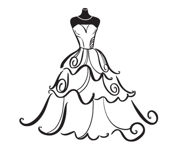 Clipart wedding dress clipart png free download Wedding Dress Clipart Free - ClipArt Best … | Pinteres… png free download
