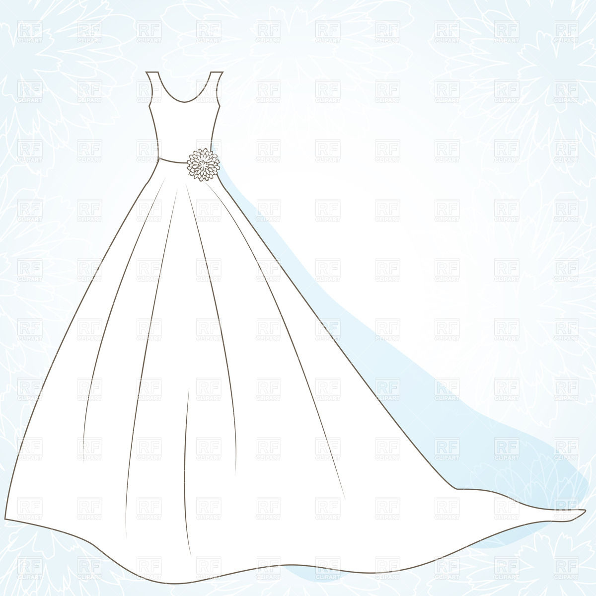 Clipart wedding dress clipart image library stock clipart wedding dress clipart clipartfest. vintage wedding dress ... image library stock