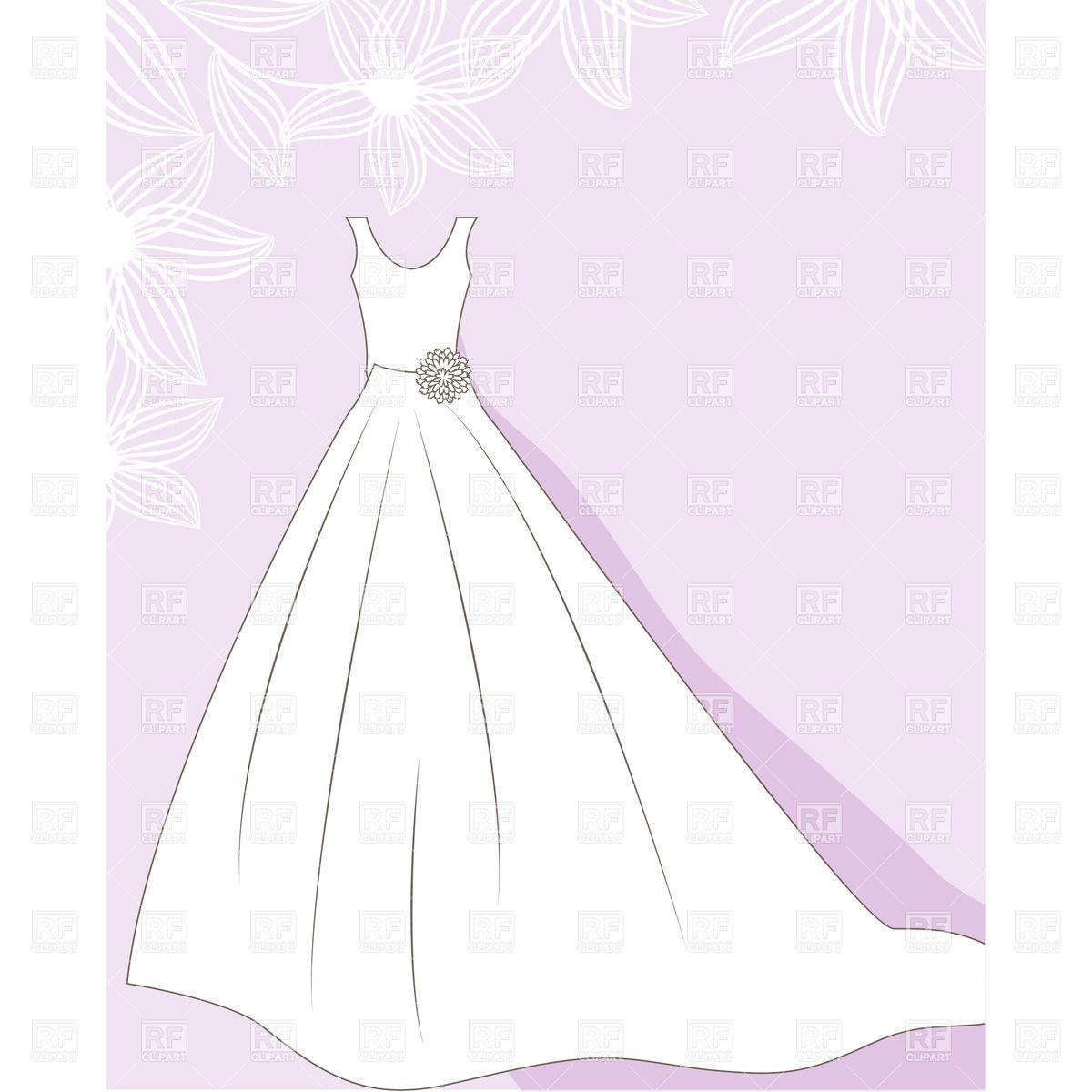 Clipart wedding dress clipart jpg royalty free library Wedding dress on hanger free clip art - ClipartFest jpg royalty free library