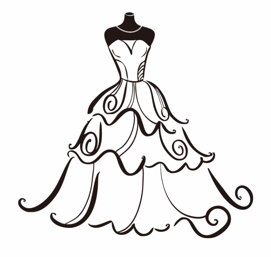 Clipart wedding dresses banner freeuse stock Banner Free Dress Bride Clip Art Transprent - Wedding Dress Clipart ... banner freeuse stock