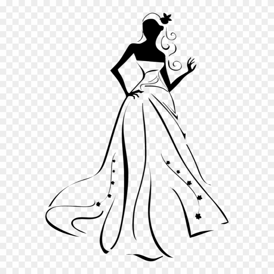 Clipart wedding dresses clip free Images Married - Wedding Dress Vector Clipart (#696965) - PinClipart clip free