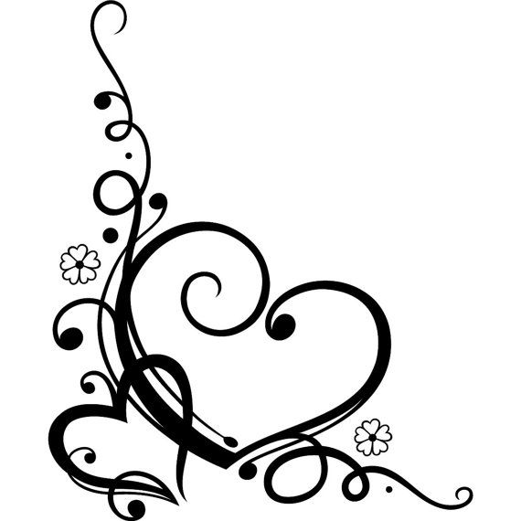 Clipart wedding hearts. Clipartfest heart scroll work