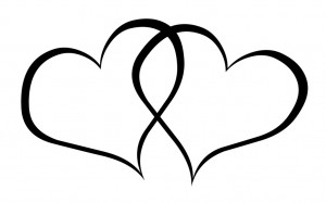 Clipart wedding hearts image black and white library Wedding Heart Clipart | Clipart Panda - Free Clipart Images image black and white library