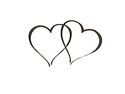 Clipart wedding hearts svg transparent download Double Hearts Wedding Clipart - Clipart Kid svg transparent download