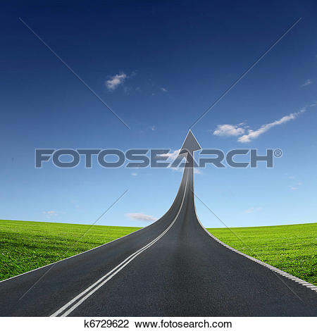 Clipart weg clip transparent stock Stock Illustrations of highway road going up k6906270 - Search ... clip transparent stock