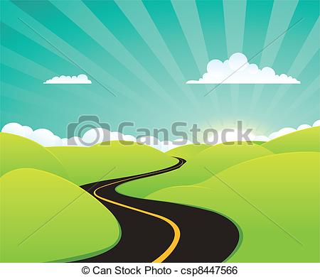 Clipart weg image black and white stock Journey Clipart and Stock Illustrations. 104,942 Journey vector ... image black and white stock