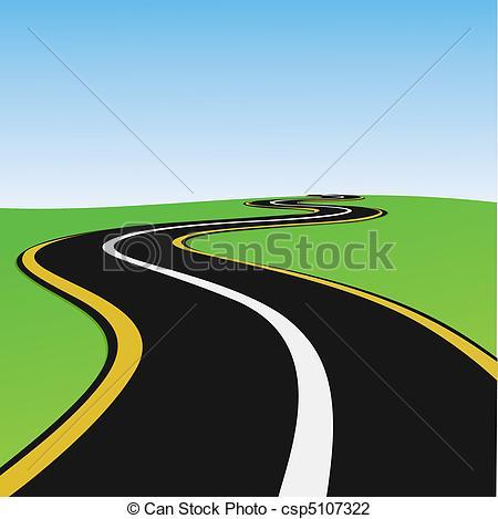 Clipart weg svg free Vector Illustration of lonely way - illustration of lonely way ... svg free