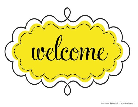 Clipart welcome signs image royalty free stock Bee Party PRINTABLES Welcome Sign (INSTANT DOWNLOAD) from Love The ... image royalty free stock