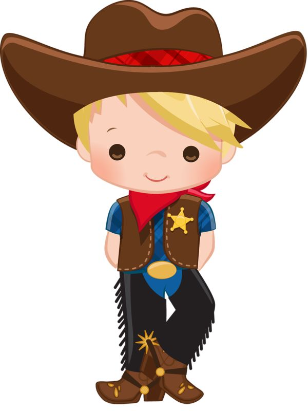Wanted cowboys for kids clipart