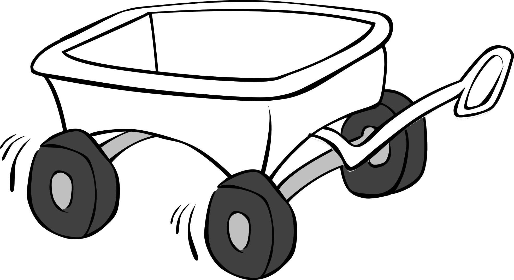 Clipart wheelbarrow money picture royalty free stock Wagon Clipart Black And White | Clipart Panda - Free Clipart Images picture royalty free stock