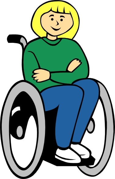 Clipart wheelchairs svg transparent stock Girl In Wheelchair clip art Free vector in Open office drawing svg ... svg transparent stock