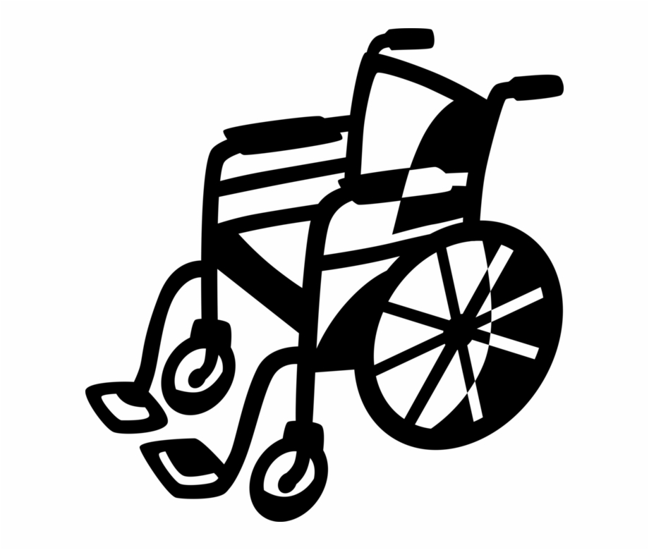Clipart wheelchairs clipart black and white library Wheelchair For Handicapped Or - Wheelchair Clipart, Transparent Png ... clipart black and white library