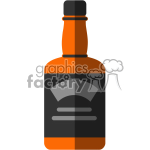 Clipart whikey image free vector whiskey bottle flat design svg cut files with shadow clipart.  Royalty-free clipart # 402328 image free
