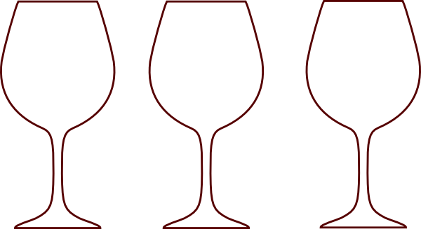 Clipart white outline of red wine glass graphic library library Champagne Bottle Outline | Wine Glass Silhouettes clip art - vector ... graphic library library
