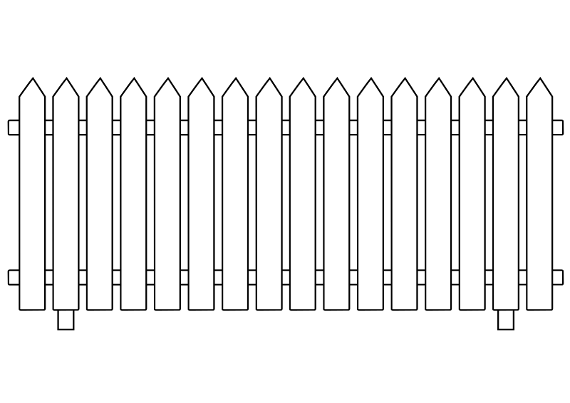 White picket fence clipart vector library Free Clipart: White Picket Fence | ghosthand vector library