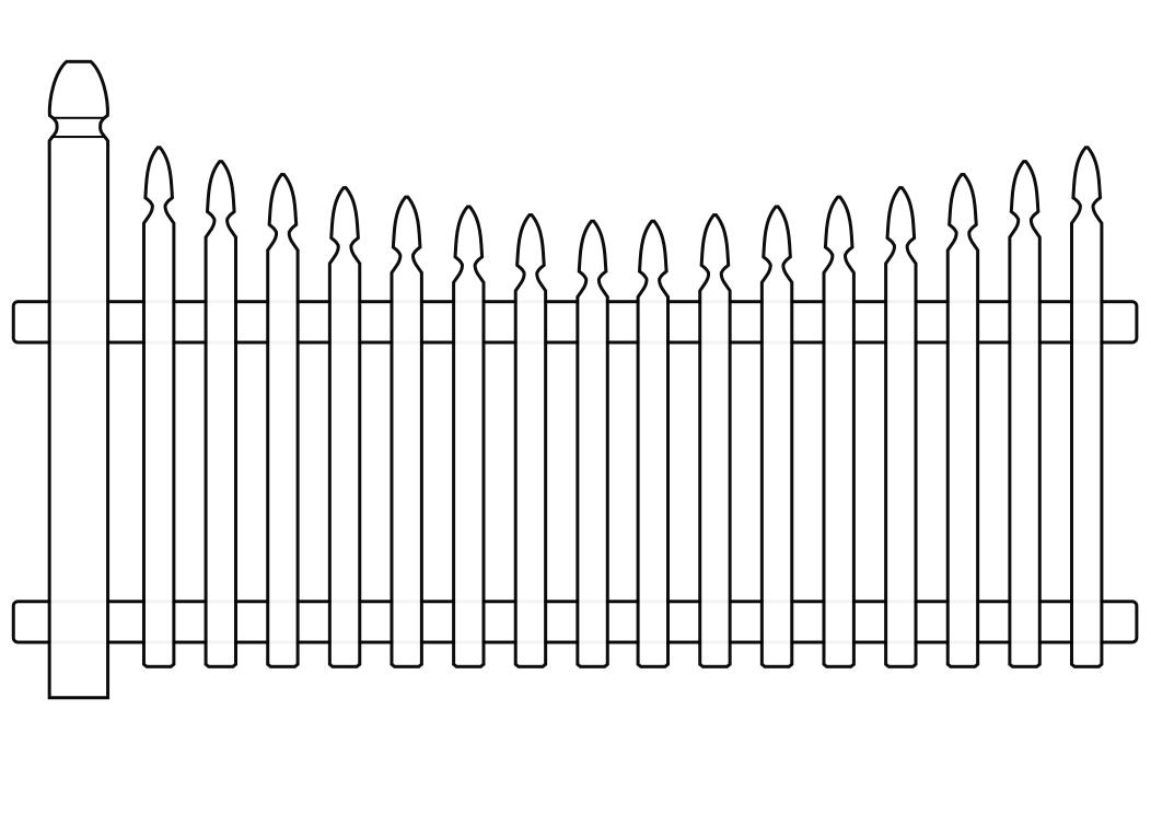 White picket fence clipart banner transparent library White picket fence clipart 5 » Clipart Station banner transparent library