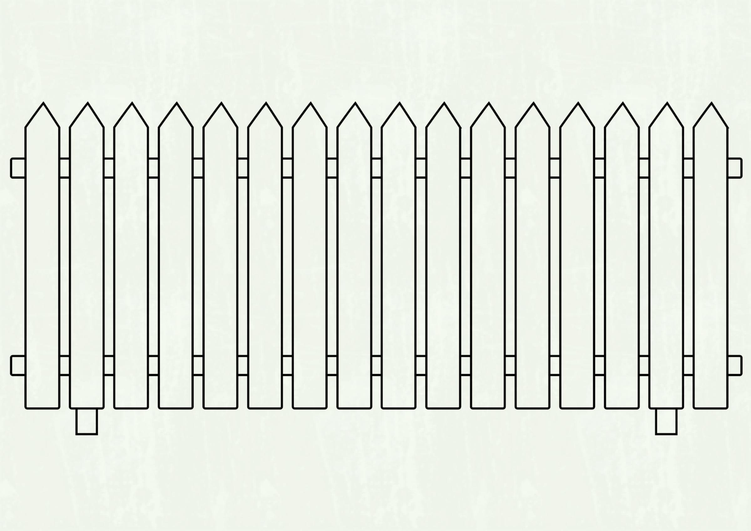 Picket fences clipart clipart black and white stock White picket fence clipart 6 » Clipart Station clipart black and white stock