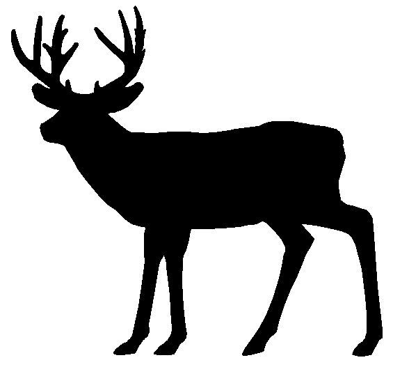 Whitetail deer in woods clipart banner royalty free Deer siluet pictures whitetail deer silhouette running whitetail ... banner royalty free