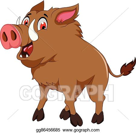 Clipart wild boar clip art transparent stock Vector Stock - Cute wild boar cartoon. Stock Clip Art gg86456685 ... clip art transparent stock