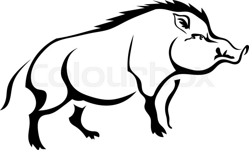 Clipart wild boar banner royalty free Download silueta jabali clipart Wild boar Clip art | Drawing ... banner royalty free
