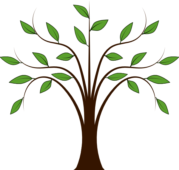 Clipart willow tree svg library Whispy Tree Clip Art at Clker.com - vector clip art online, royalty ... svg library