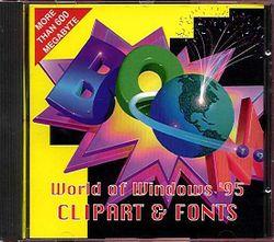Clipart windows 95 banner transparent World Of Windows 95 Clipart & Fonts (PC, CD-ROM) UK Gold - 1995 UK ... banner transparent