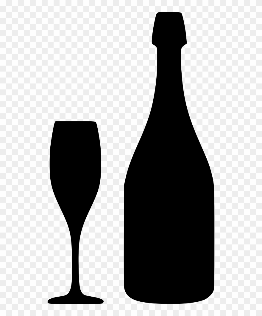 Wine glass or bottle clipart svg black and white stock Download Free Champagne Bottle Svg Clipart Wine Glass - Svg Free ... svg black and white stock