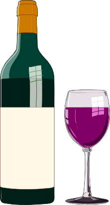 Clipart wine glasses and bottles vector transparent library Free Wine Cliparts, Download Free Clip Art, Free Clip Art on Clipart ... vector transparent library