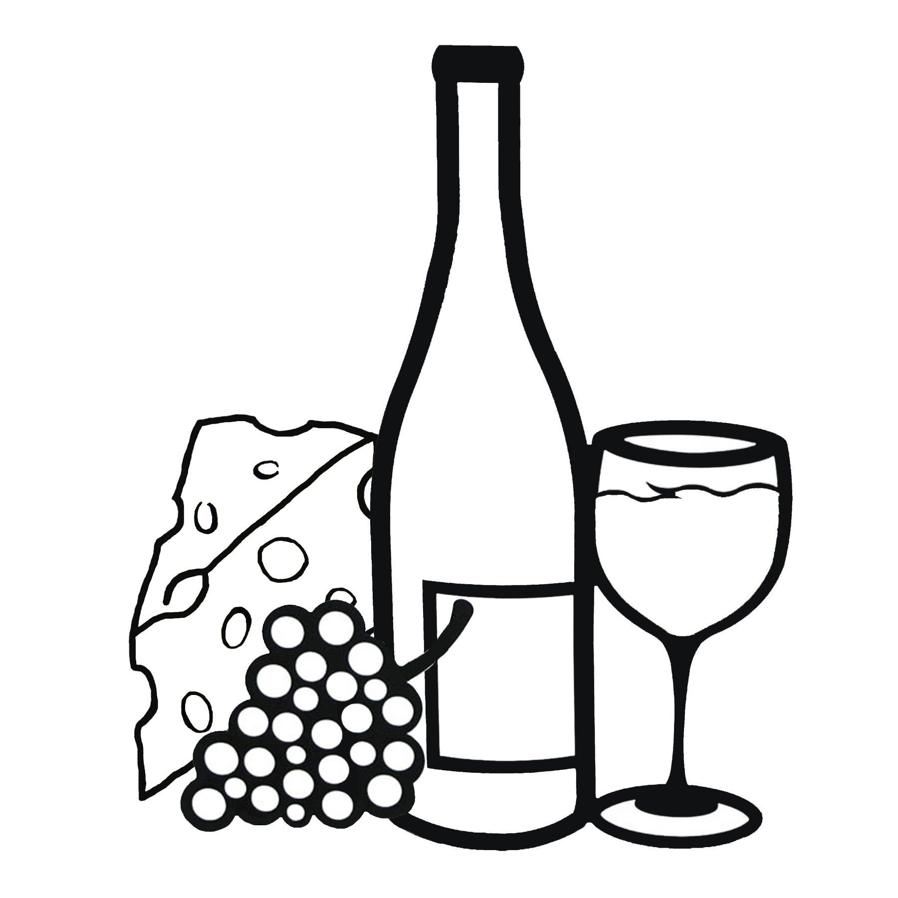 Wine bottle black and white clipart picture library stock Free Wine Bottle And Glass, Download Free Clip Art, Free Clip Art on ... picture library stock