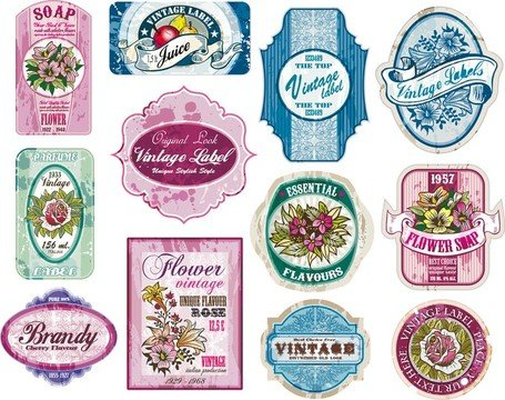 Vintage wine labels clipart jpg black and white library Free Vintage Wine Label Collection 02 Clipart and Vector Graphics ... jpg black and white library