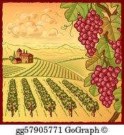 Clipart winery image transparent stock Vineyard Clip Art - Royalty Free - GoGraph image transparent stock