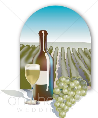 Clipart winery banner library download Vineyard Scene Clipart | Honeymoon Clipart banner library download