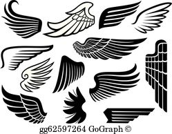 Wings clipart images clipart library Wings Clip Art - Royalty Free - GoGraph clipart library