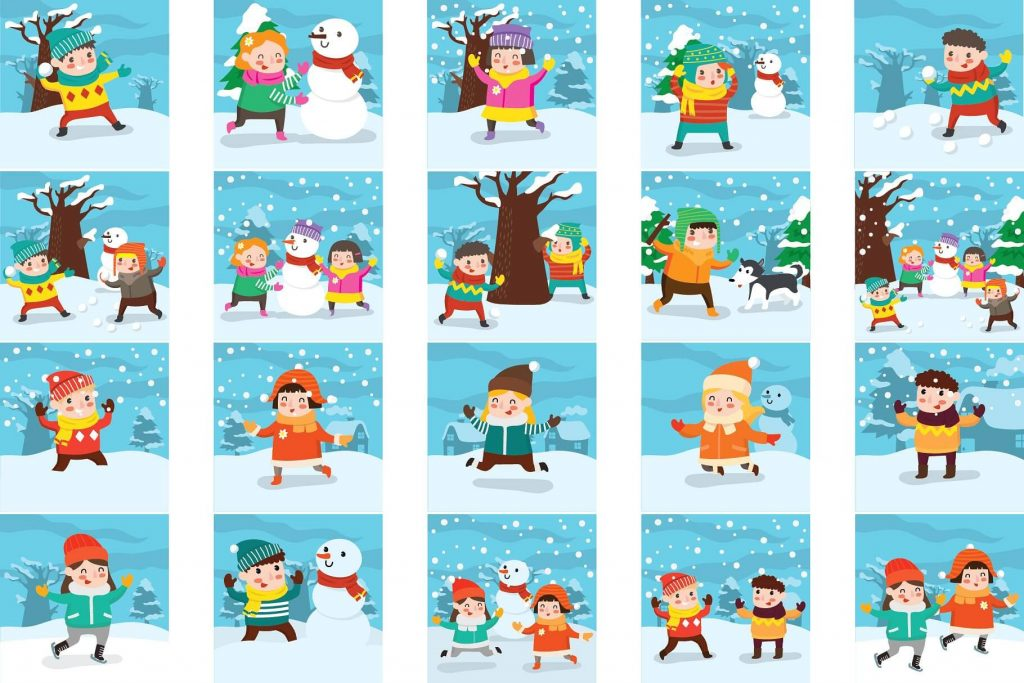 Winter activity clipart banner library stock 90+ Lovely Winter Clipart Bundle banner library stock