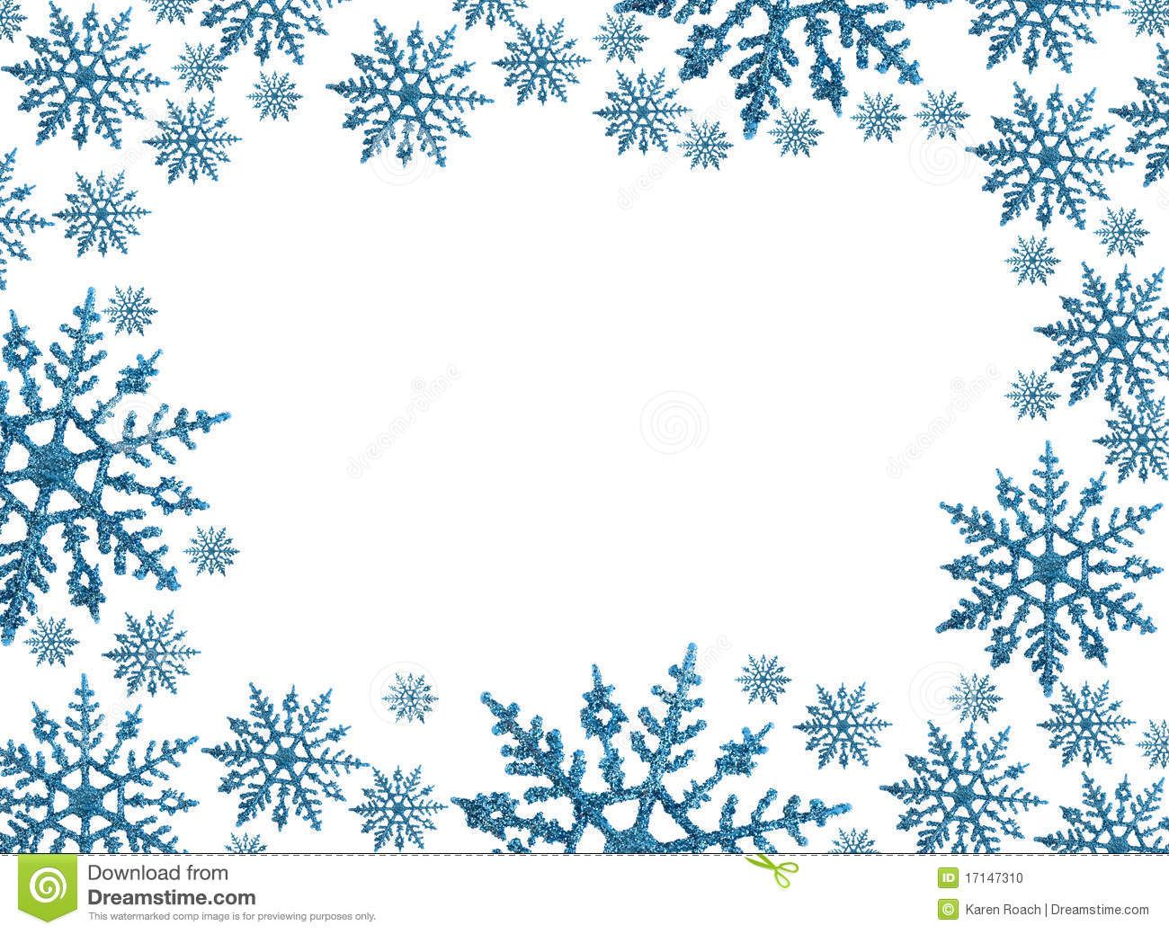 Clipart winter borders freeuse library Snowflake Circle Border Clip Art | Snowflake border with white ... freeuse library