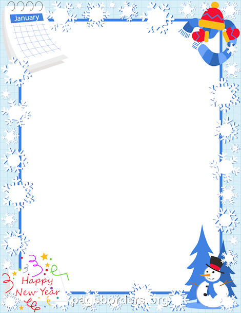 Clipart winter borders png transparent library January free winter borders clip art page borders and vector ... png transparent library