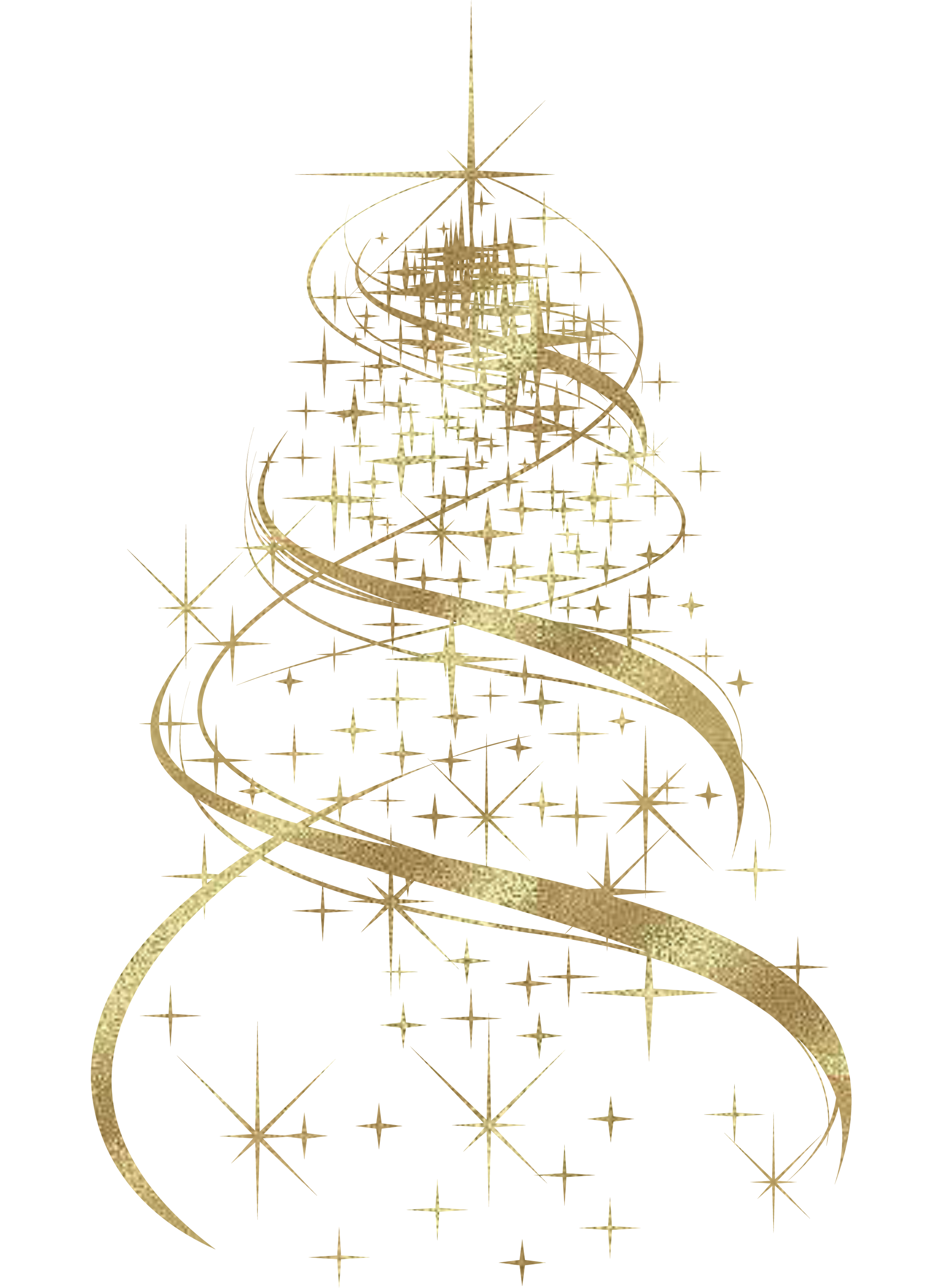 Clipart winter concert snowflake treble clipart royalty free library Transparent Golden Christmas Tree Decoration PNG Clipart ... clipart royalty free library