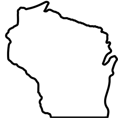 Wisconsin outline clipart clip black and white library Wisconsin Outline   Free download best Wisconsin Outline on ... clip black and white library