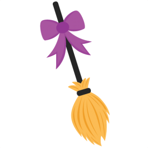 Clipart witch broom banner royalty free Witch Broom: Miss Kate Cuttables | SVG Files | Witch broom, Witch ... banner royalty free